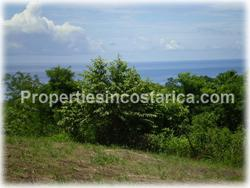 Costa Rica lot for sale, ocean view, road access, Cobano, Montezuma, water supply, electricity, telephone, internet, wide band, fruit trees,