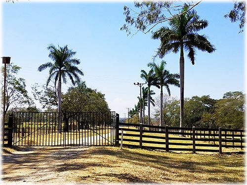 It doesn't get any bigger than this farm ranch in petite and exotic Costa Rica! Featuring productive cropland, enchanted forest, 4 rivers running year round with an extensive 1.5 Million Dollar irrigation system, airstrip, 2.5 miles of frontage on the new 4-lane Pan-American Highway, just 25 minutes from Liberia International Airport, the new Discovery $1 billion eco-tourism park set to open in 2020 and less than 1 hour to the lush Gold Coast beaches! More information...