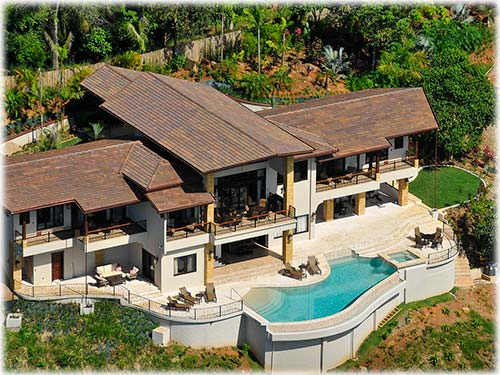 Costa Rica Ocean View Residence with Pool at Dominical       - ID CODE: #1578