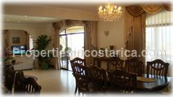 Escazu luxury homes, for sale, pool, storage, warehouse, basement, palace style, 2 levels, secure, mountain view, 1648
