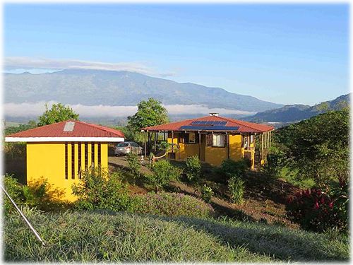 Eco sustainable, costa rican, country, home, for sale, on a hilltop, with panoramic, mountain, valley, lake, countryside, views, peace, quiet, privacy