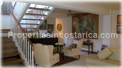 Escazu luxury home, for sale, large home, pool, jacuzzi, mountain view, valley view, furnished, location, security, 1646