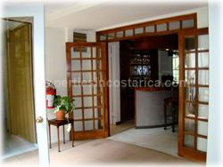 Rohrmoser real estate, large home, Rohrmoser for sale, for rent, furnished, A/C, security, hot water, rooms, fully equipped, quiet neighborhood, location, airport, schools, business, Escazu, Santa Ana, 23