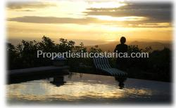 Dominical Costa Rica, Dominical real estate, for sale, luxury, infinite edge pool, custom built, exotic homes, ocean view, mountain view