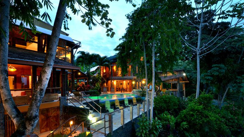 Ocean view rustic modern luxury property id code 2619 for Luxury vacation costa rica