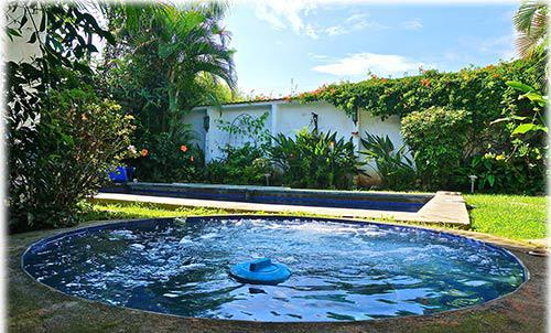 san jose, costa rica, one story home, for sale, private solar heated swimming pool, one level home, in gated community, 24/7 secure condominium