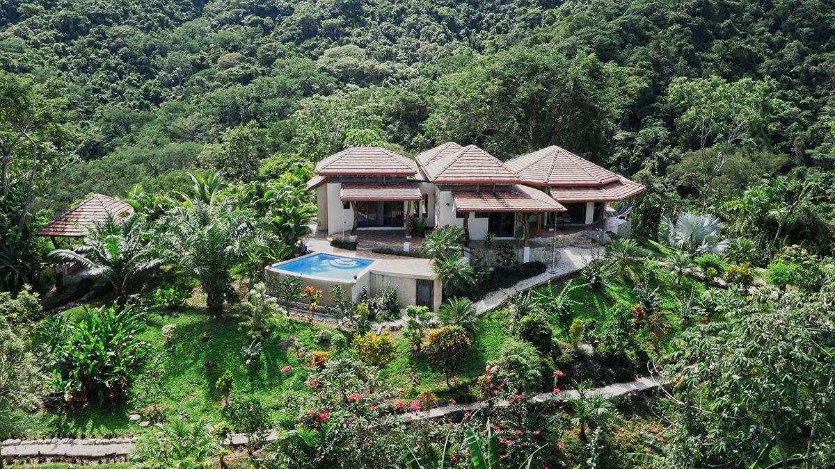 Costa Rica Private Ranch, for sale, Nicoya Peninsula, Panoramic views, forest, reforested teak trees, farm land, development land, river, creeks and Waterfalls
