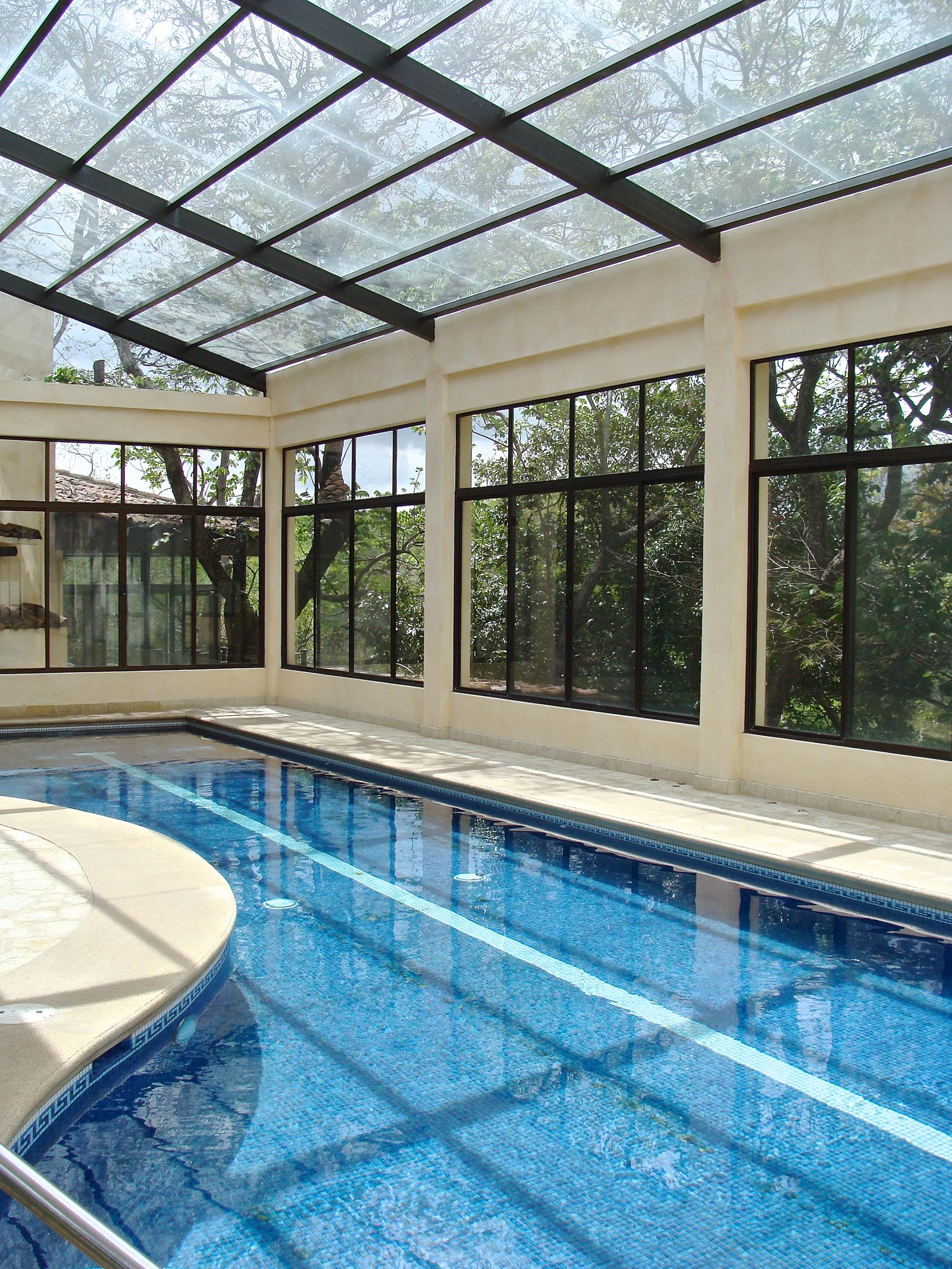 River Canyon Estate with Tropical Gardens and Indoor Pool in Santa Ana