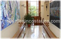 Escazu for sale, fully furnished, turnkey, gated community, Escazu real estate,  2 story, security, shopping, hospitals, schools, 1622